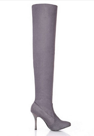 Women's Spring/Autumn Folding Over the Knee Boots Sexy Thin High Heel Boots Fashion Pointed toe Boots Shoes - Style Lavish