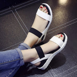 Women Summer Shoes Sandals Peep-Toe Flat Shoes Sandals