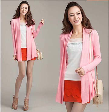 Spring fashion women Cardigan sweater Casual knitted cardigan