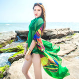 140x190cm Scarf Women Summer Beach Sarongs Chiffon Scarves Geometrical Swimsuit Cover Up Dress Wraps - Style Lavish