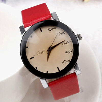 PU Leather  Wrist watch Bracelet Quartz watch Woman Watches Clock