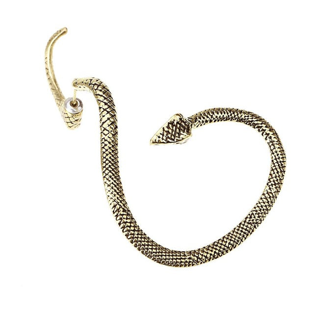 Women Snake Punk Earrings Fashion Jewelry  Exaggerated Winding Animal