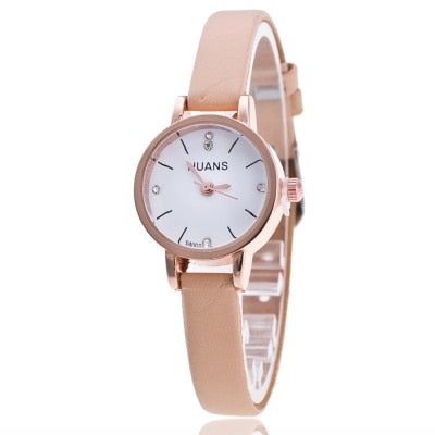 Girls Models Fashion Thin Belt Rhinestone Belt Watch Women Quartz Watches