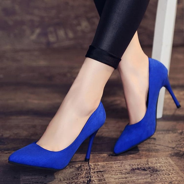 Spring Autumn Women Shoes Fashion Shallow High Heels Fine With Pointed Woman Pumps