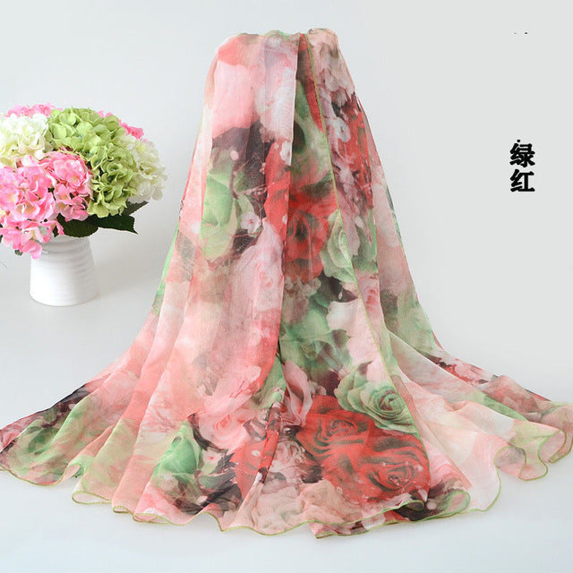 200x140cm Beach Shawl  Women Chiffon Wrap Pareo Sarong Dress Beach Bikini Scarf Beach Cover Up Scarves - Style Lavish