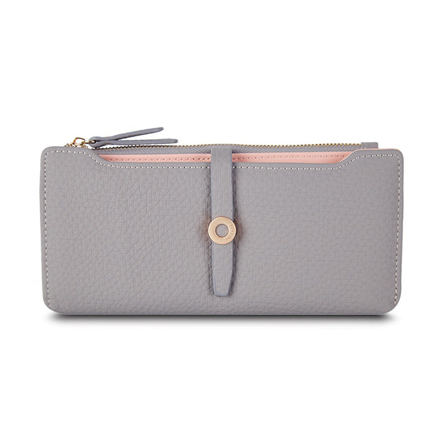 Lovely Leather Long Women Wallet Fashion Change Clasp Purse Money Coin Card Holders wallets