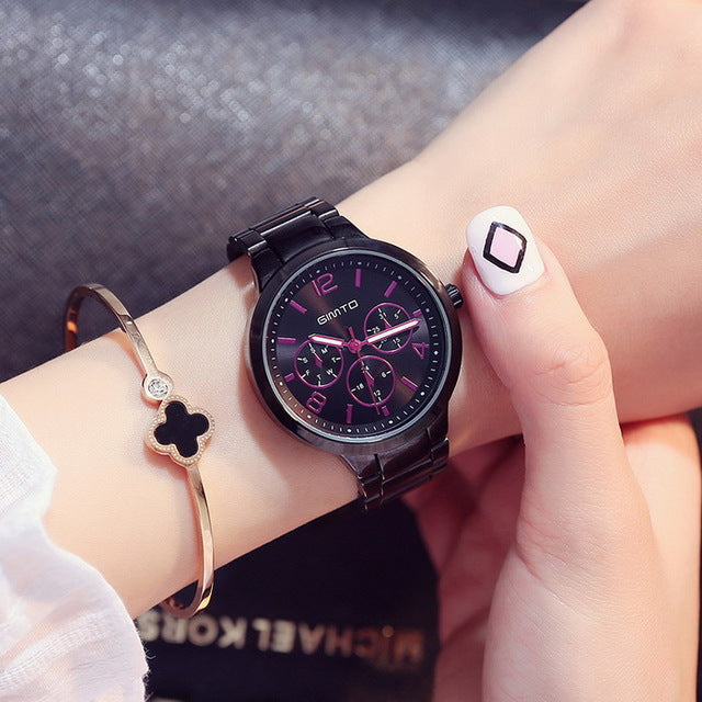 Women Watch Steel Luxury Creative Quartz Wristwatch Clock