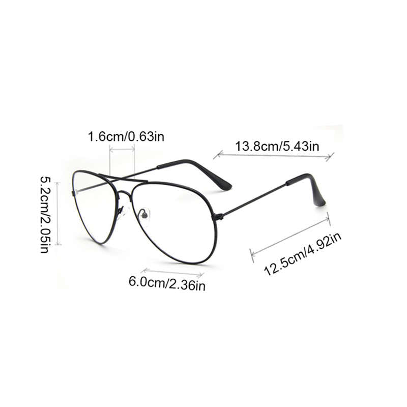 Vintage Unisex Eyeglasses Frames Clear Lens Glasses Retro Reading Glass UV Protection Clear Lens Computer Women Eyewear