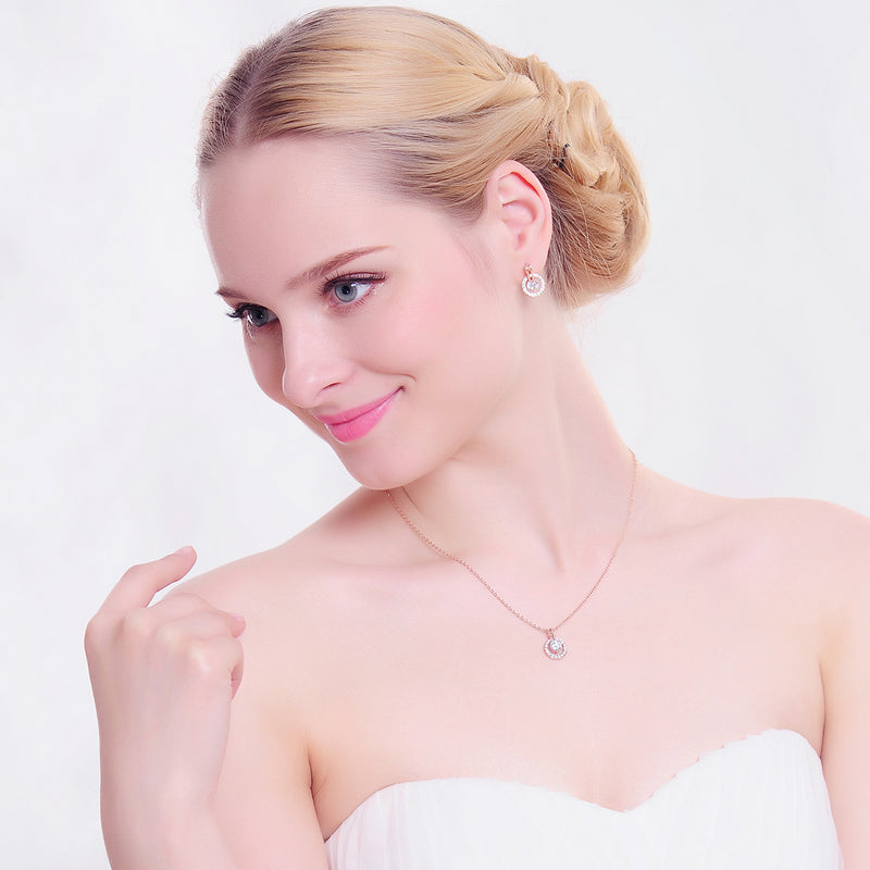 Wedding Jewelry Sets Necklace Earring For Women