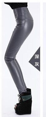 Women leggings High Waisted Leather Women Pants Warm Winter Woman PU Leggings Trousers