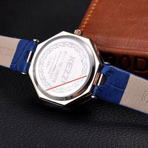 Fashion Quartz Watch Women Rhinestone Leather Casual Dress Woman Watch Crystal
