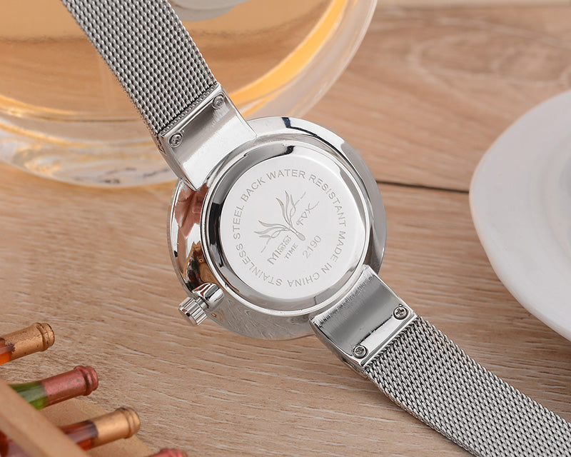 Women Watch Steel Slim Simple Style Ultra Thin Watch Waterproof Causal Timepiece