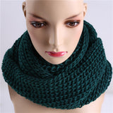 Winter Women Infinity Scarf Casual Warm Knitting Soft Ring Scarves Round Neck Snood Scarf Shawl