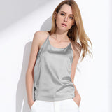 Women Silk Halter Top Summer Style Sexy Sleeveless Vest Slim Crop Top - Style Lavish