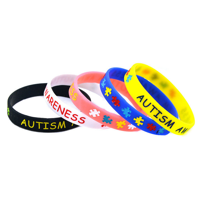 Autism Awareness Puzzle Silicone Wristband Bracelet Youth and Adult Sizes Available - Style Lavish