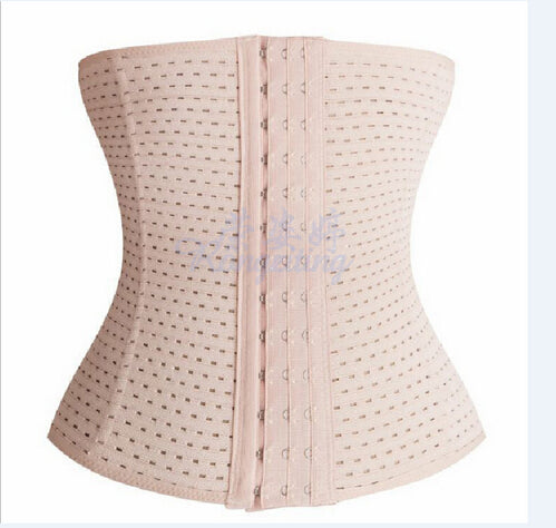 Women Breathable Waist Shapers Rubber Waist Trainer Cincher Underbust Shapers Corset Body Shaper Shapewear