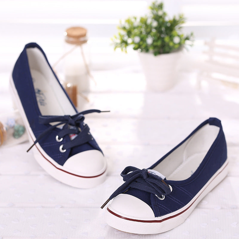 Women Spring Light Canvas Shoes Slip-OnTide Foot Pedal flat shoes