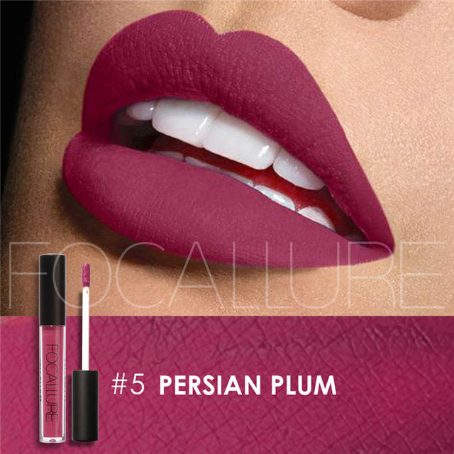 Focallure 25 colors Lip gloss Lip Tint Cosmentic Waterproof Lipgloss Pigment Sexy Lip kit Matte Liquid Lipstick Nude Makeup