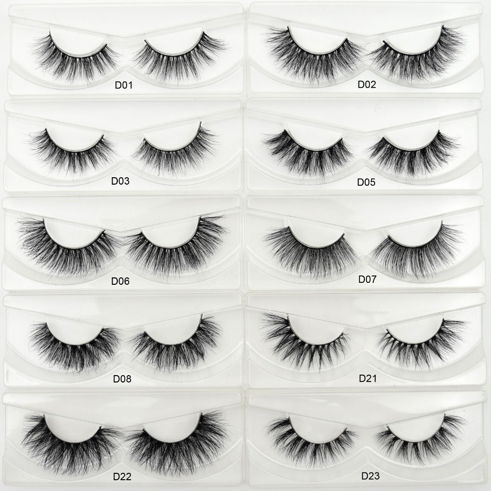 3D Mink Eyelashes Crossing Mink Lashes Hand Made Full Strip Eye Lashes 34 Styles Package - Style Lavish