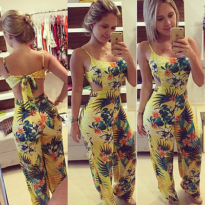 Women Summer Playsuits Bodycon Jumpsuit Romper Trousers