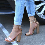 Women Summer Shoes T-stage Fashion Dancing High Heel Sandals Sexy Stiletto Party Wedding Shoes - Style Lavish