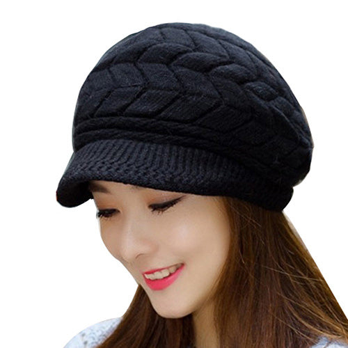 Winter Beanies Knit Women's Hat Winter Hats Caps Bonnet Snapback Wool Warm Hat
