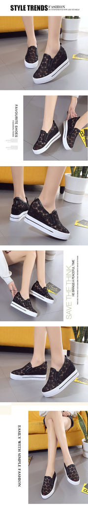 New Fashion Hollow Out Women Platform Daily Height Increasing Shoes - Style Lavish