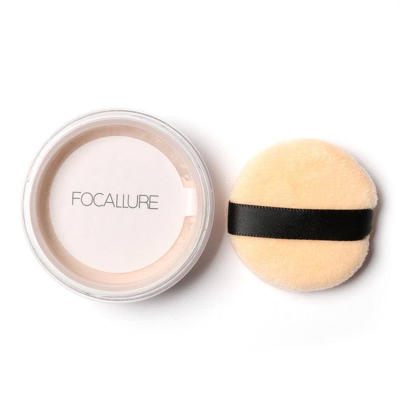 Women Face Makeup Powder Waterproof 3 Colors Loose Powder Skin Finish Powder