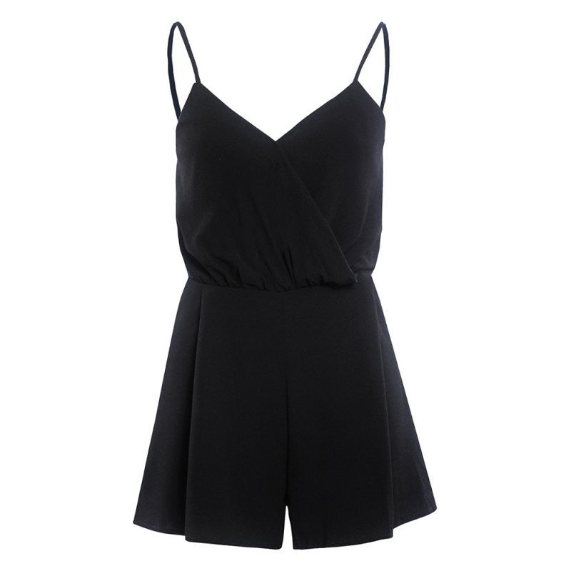Women V-Neck Rompers Sexy  Solid  Elegant Bodycon Jumpsuit Romper