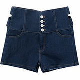 Hollow Out High Waist Shorts Summer Women Slim Sexy Denim Shorts Jeans