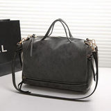 Women pu leather handbags vintage nubuck crossbody bags tote shoulder bags