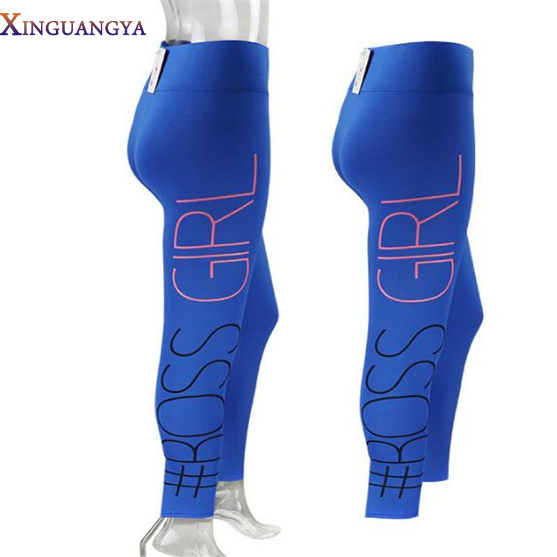 Women Fashion legging Pants Printed High Waist Pencil Pants Fitness Leggings Casual Trousers