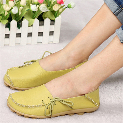 PU Leather Women Flats Moccasins Loafers Wild Driving woman Casual Leisure Flat shoes - Style Lavish