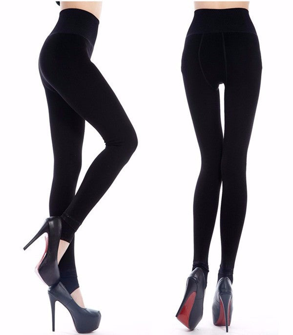 Women's Warm Winter Leggings High Waist Thick Velvet Legging Solid All-match Legging