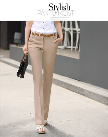 Women Trousers  Pants Spring Summer Casual OL Harem Pants Flare Trousers