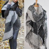 Women Winter Warm Long Blanket Scarf Fashion Oversized Tassel Cashmere Wool Scarves Wraps Pashmina  Cachecol Shawls