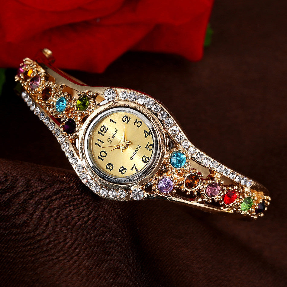 Bracelet Quartz Watch Women Wristwatch Clock Wrist BangleWomen Dress Quartz Watch - Style Lavish