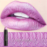 8 Metallic Lip Colors Sexy Party Lip Color Lip Stick Matte Lip Gloss Long-lasting Lipsticker - Style Lavish