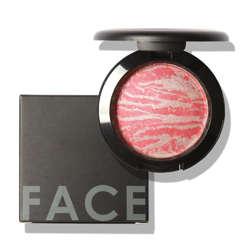 Professional Cheek 6 Colors Makeup Baked Blush Bronzer Blusher With Brush by Focallure