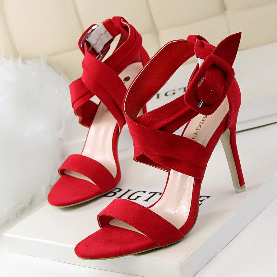 Peep Toe High Heels Shoes Women Pumps Summer Sandals Sexy Party Wedding Shoes - Style Lavish