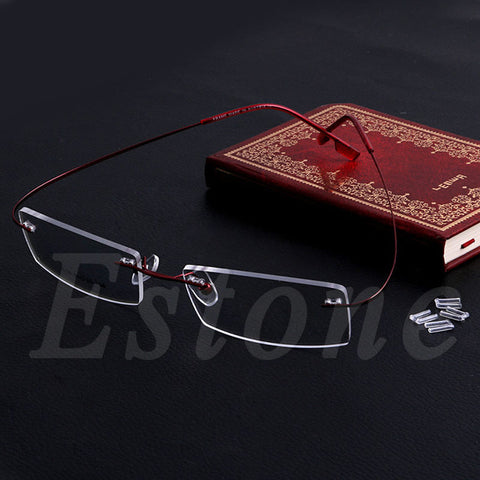 Fashion Metal Rimless Eye Glasses Eyeglasses Frame Spectacle Frames Lightweight - Style Lavish