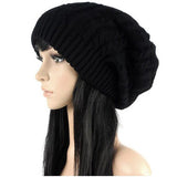 Fashion Caps Warm Autumn Winter Knitted Hats For Women Stripes Double-deck - Style Lavish