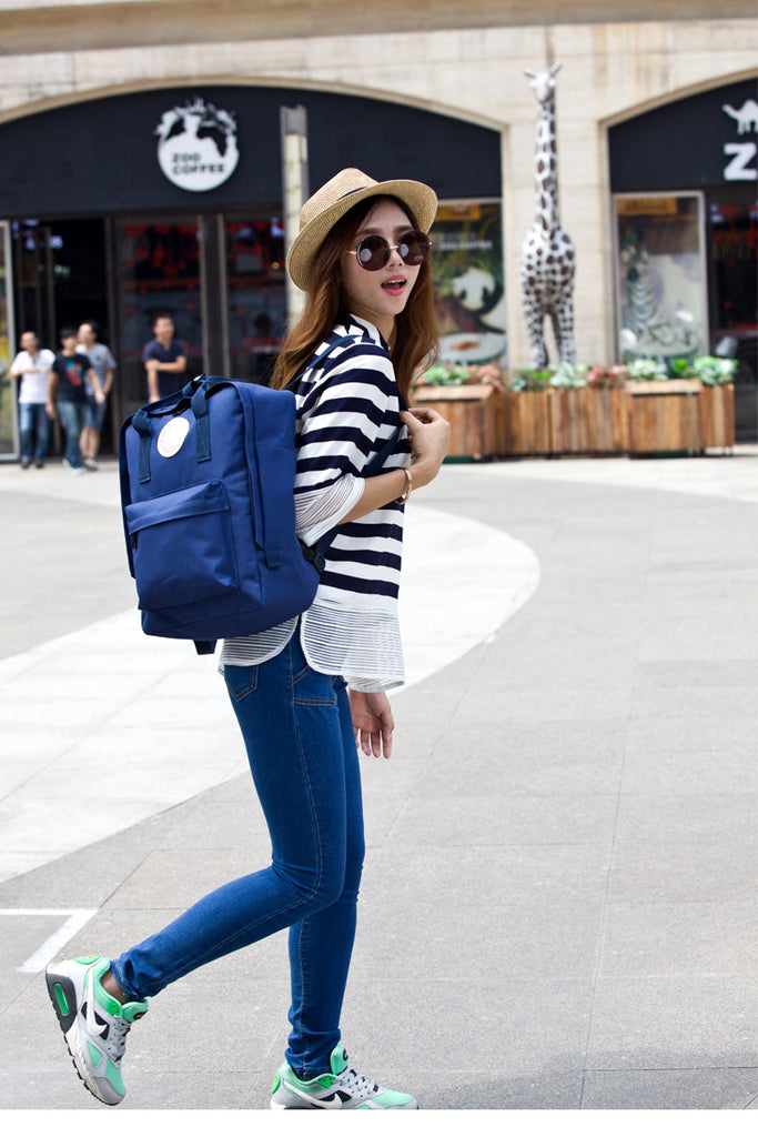 Woman Shoulder  Backpacks Fashion Classic Canvas Bags Travel Backpacks
