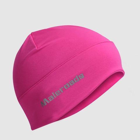 Sports Skull Cap Cycling Hat Helmet Liner Daily Beanie Motorcycling Jogging Running Skiing Black Rose helmet liner for Men Women