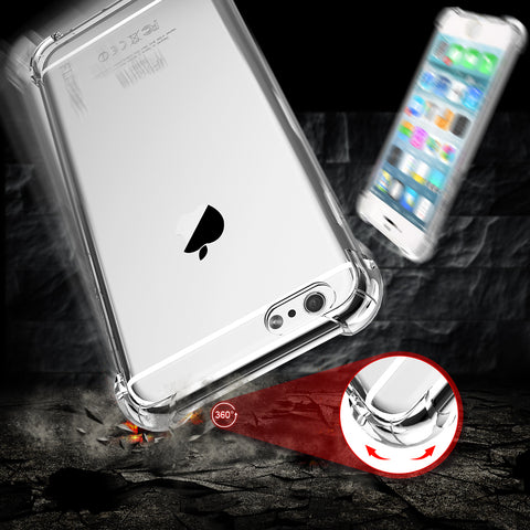 For iPhone 6 6s Plus 7 Case For iPhone 7 7 Plus Coque Clear Full Protection of 360 Degree Drop Resistant Anti-knock Capa