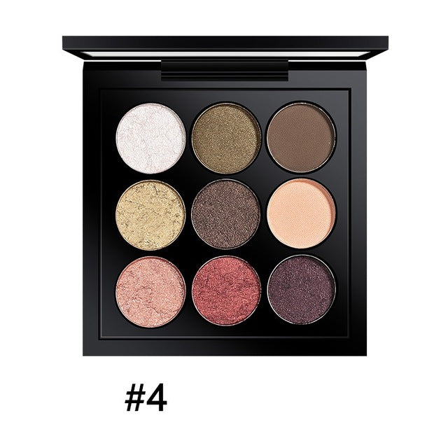 9 Colors Earth Tone Shimmer Matte Pigment Glitter Eyeshadow Palette Magnetic Design Metallic Shadow Palette Makeup - Style Lavish