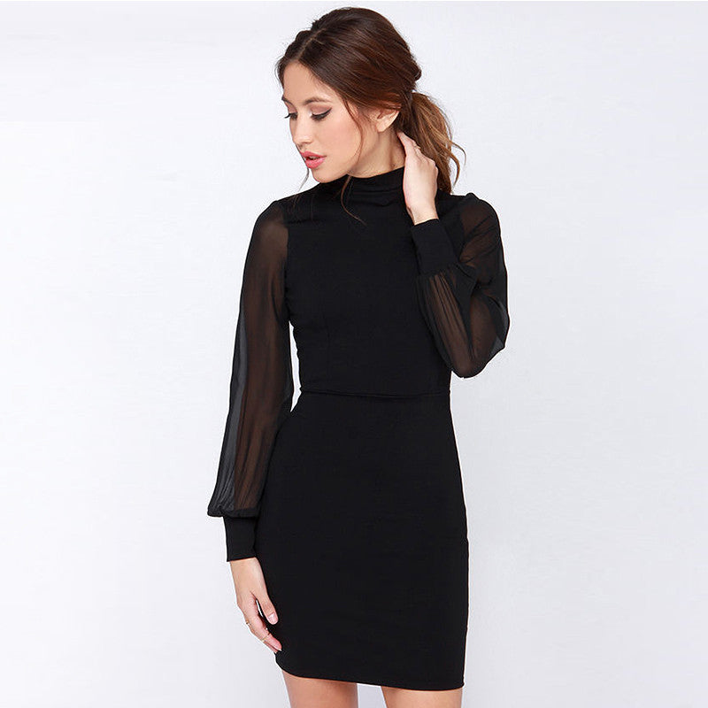 Backless Slim  Dress Elegance Fashion Summer Dress Dresses Women Vintage Black White Dress - Style Lavish