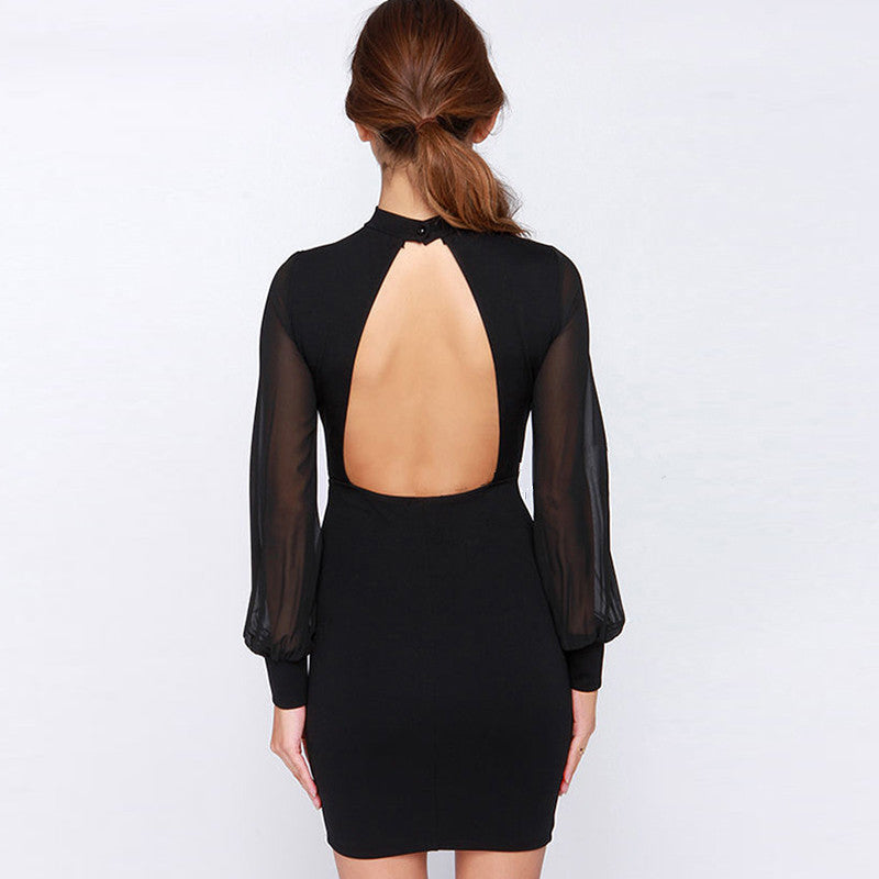 08828a5c1 ... Backless Slim Dress Elegance Fashion Summer Dress Dresses Women Vintage  Black White Dress - Style Lavish ...