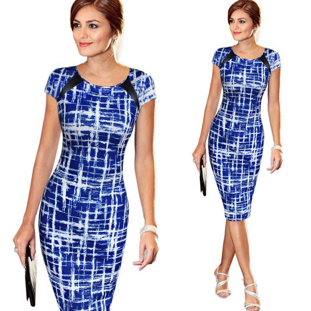 Sought-After Women Bandage Bodycon Short Sleeve Midi Dress