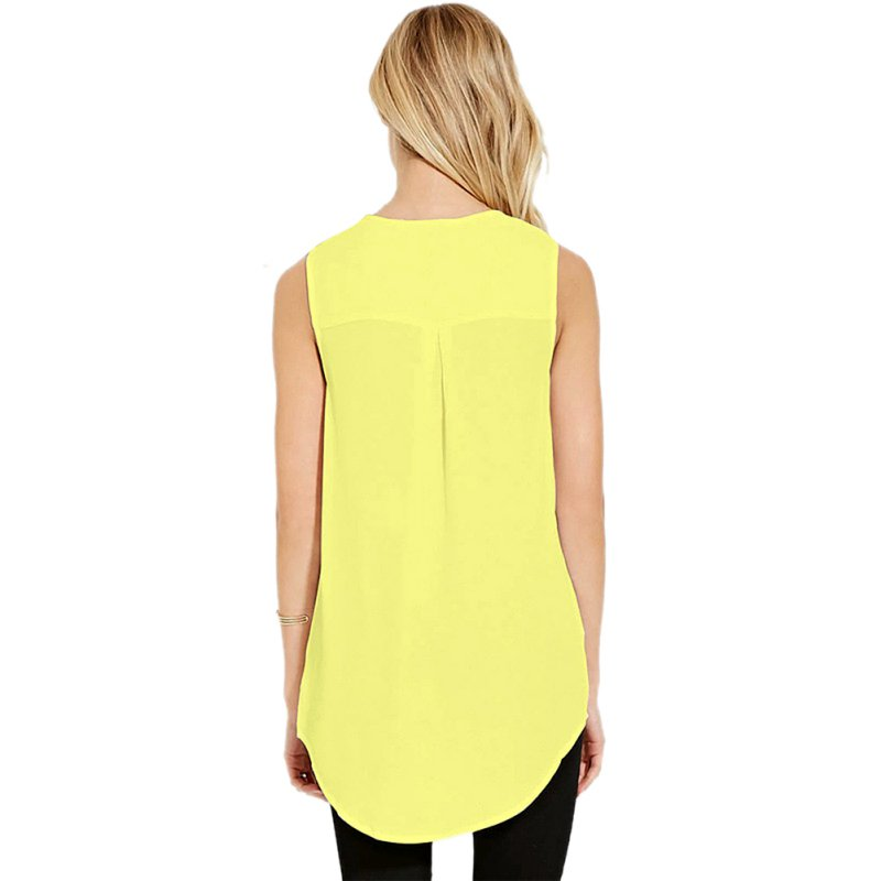 Women Casual Loose Shirts Slim Top Summer Sleeveless Blouse